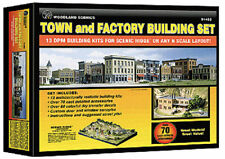Woodland Scenics N Scale Town & Factory 13 DPM Building Kits Set 1485