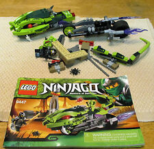 LEGO, NINJAGO, LASHA'S BITE CYCLE (9447). MANUAL AND MINIFIGURES. (6348)