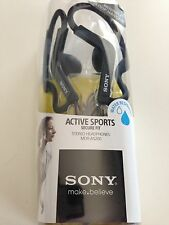 Sony MDR-AS200 Active Sports Earbuds Headphones MDRAS200 - Black - New Open Box