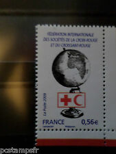 FRANCE 2009, timbre 4390 CROIX ROUGE GLOBE FEDERATION neuf** MNH STAMP RED CROSS
