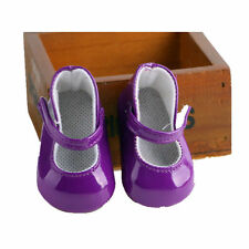 For 18inch American Girl Boot PU Shoes Doll Party Casual Shoe Purple Kid Gifts