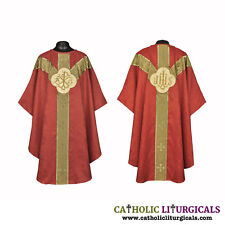 Dark Red Clergy gothic vestment & stole set, Gothic chasuble, casual, casel, New