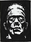 BORIS KARLOFF FRANKENSTEIN MONSTER BLK PATCH GOTH PUNK PSYCHOBILLY 14cm X 19.5cm