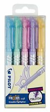 Pilot Frixion Light Soft Erasable Highlighter Pastel Colours - Pack 5