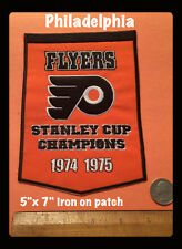 IRON ON PATCH 5X7 CHAMPIONSHIPS BANNER STANLEY CUP PHILADELPHIA  FLYERS