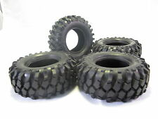 4PC - 96mm OD Tire Set with Foam Inserted for 1.9 Inch Rim 1/10 Crawler