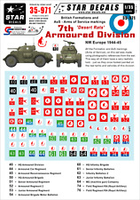 Star Decals 35-971,Decals: British 7th Armoured Division 'Desert Rats' NW Europe
