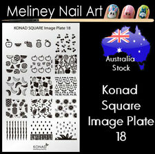 Konad Square Image Plate 18 for Stamping Nail Art Transfer Stencils Fruits