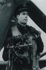 CANADIAN ACE Don Laubman 15 Vic signed 4x6 PHOTO RCAF