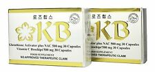 Lot of 2 Sets KB Kyusoku Bihaku Glutathione Whitening Capsule New Flat Packaging