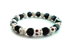 Handmade shamballa beaded stretch bracelet men women gift WOOD&SKULL accessories
