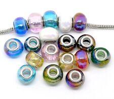 """Ten """"Iridescent Beautiful Murano Glass"""" Beads"""