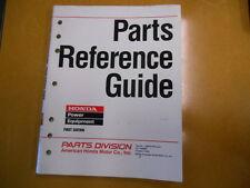 2004 Honda Power Equipment Factory Parts Reference Guide