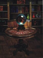 "~Post Card~""Fortune Teller Table"" (Crystal Ball & A Deck of Cards) (B-410)"
