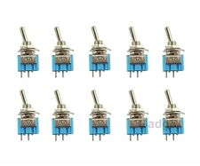NEW 10 PK TOGGLE SWITCH SPST ON OFF MINI TOGGLE 3 AMP 250V 6 AMP 125V 2 PIN