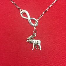 Moose Necklace Lariat Style. Supernatural Jewelry.