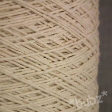 4 PLY COTTON SILK LINEN YARN 500g CONE ECRU / UNDYED NATURAL KNIT CROCHET WEAVE