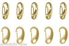 "6 Large GOLD PLATED Auto-Close CLIP CLASP 32x17mm ~ 1.25"" Long ~ Purses Crafts"