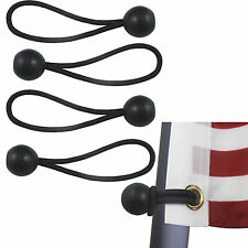4 Flag Pole Clip  Ball Flag Bungee Ties to attach Windsocks & Flags to Poles