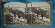 Stereoview 1900 UK & USA Quarter Huangpu Whangpoo River Shanghai 上海 China 中国 NR