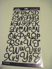 Scrapbooking Crafts Stickers Sticko Glitter Script Alphabet Black Large Small