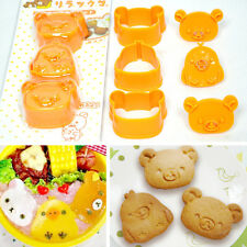 Rilakkuma Relax Bear San-X Sushi Rice Vegetable Cookie Mold Cutter Bento Bakery