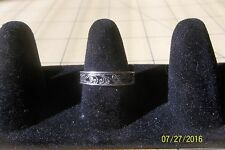 Sterling Silver Cut-Out  Scroll Vine- Ring 8.5 slim