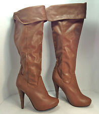 gorgeous pair of NYLA brown hidden platform OTK fashion boots 8