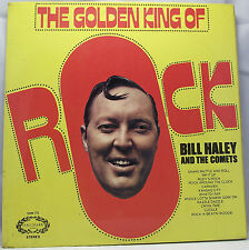 BILL HALEY & THE COMETS - THE GOLDEN KING OF ROCK Live Album Vinyl LP 33rpm VG