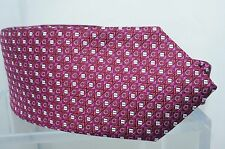 Salvatore Ferragamo Mens Purple Tie Red Logo Print 100% Silk Neckwear Fuxia NWT
