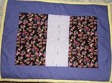 Dressed Bears Hand Made Baby Quilt Purple, Lilac, Yellow
