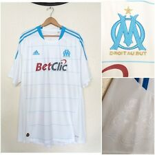 Adidas 04/10 Olympique DE MARSEILLE SOCCER JERSEY DROIT AU BUT EUFA FIFA 2XL New