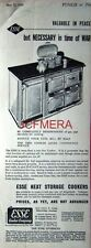'ESSE' (Aga-Type) Cooker Range; Original 1940 Advert - WW2 Art Deco Print AD.