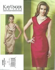 VOGUE 1182 SEWING PATTERN KAY UNGER SLEEVELESS DRESS SZ BB 8-14 NEW UNCUT