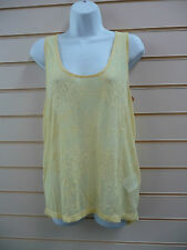 REDUCED LADIES REPLAY YELLOW CASUAL LOOSE FIT TANK TOP - SIZE MEDIUM - 12 BNWT