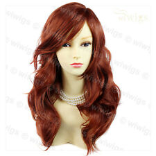 Wonderful wavy Long Copper red Ladies Wigs Hair from WIWIGS UK
