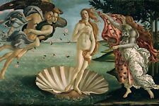 "The Birth Of Venus by Botticelli, Canvas Print, 10.5""x16"", Giclee Canvas Print"