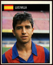 Luis Milla Spain #165 Orbis World Cup Football 1990 Sticker (C234)