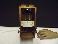 GALVANOMETER ((Philip Harris & Co Ltd)) Wall Mounting (Mahogany) C1920 (Centre 0