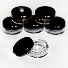 50 x 5ml black lid craft pots for samples, glitter, lip balm Jdb-50