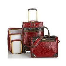 Samantha Brown 5-piece Classic Luggage Set Burgundy New