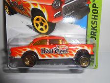 Hot Wheels '55 Chevy Bel Air Gasser (Orange) HW Workshop #207 HEAT FLEET