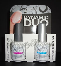 (2pcs) Harmony Gelish Top Coat Top If Off & Base Coat Foundation with display