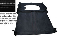 WHITE STITCH ROOF HEADLINING PU SUEDE COVER FITS LAND ROVER DEFENDER 90 3DR