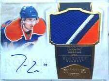 wOw! SICK 3(4?)clrs JORDAN EBERLE ROOKIE GOLD JERSEY PATCH AUTO DOMINION 2010 11