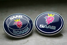"2.0"" 50mm Blue Front Hood Emblem Badge Decal For SAAB 9000, 900 9-3"