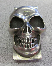 """Unique """"King Baby"""" Skull Money Clip with large Princess Cut Diamond   Make Offer"""