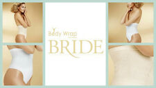 NEW BRIDAL THE PIN THIN HIGH WAISTED THONG WHITE BY BODY WRAP SHAPEWEAR SIZE S/M