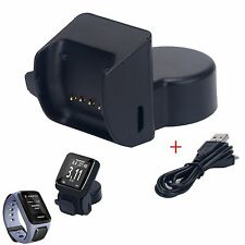 USB Charging Station Dock Charger Cable For TomTom Spark Music+Cardio GPS Watch