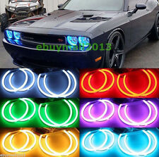Cotton RGB For Dodge Challenger 2008-2014 SMD LED Halo Rings Demon Angel Eyes